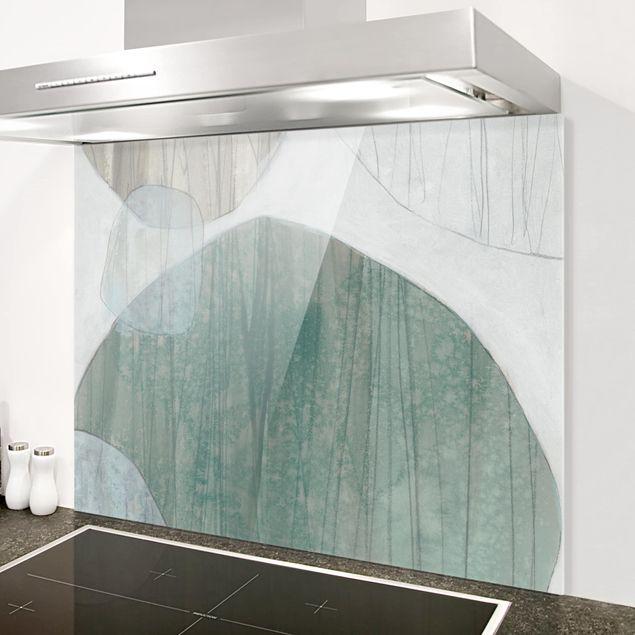 Glas Spritzschutz - Jadesteine I - Querformat - 4:3