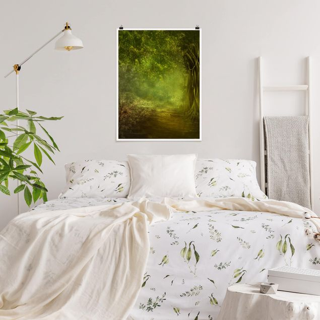 Poster - Waldspaziergang - Hochformat 3:4