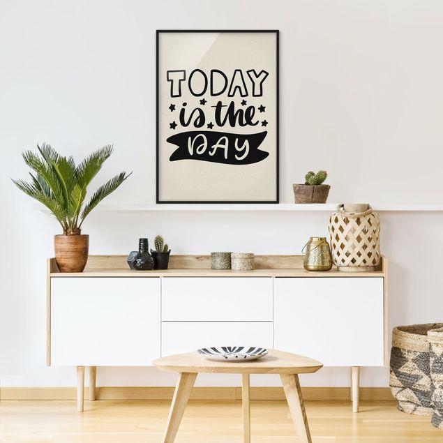 Bild mit Rahmen - Today is the day - Hochformat 3:4