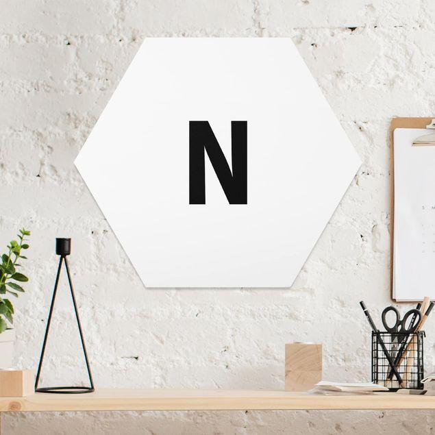 Hexagon Bild Forex - Buchstabe Weiß N