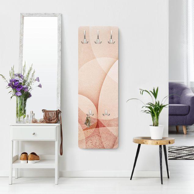 Garderobe - Abstrakte Grafik in Pfirsich