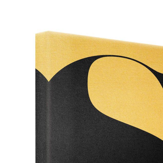 Leinwandbild Gold - Antiqua Letter S - Quadrat 1:1