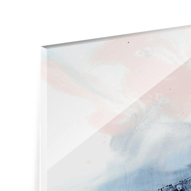 Glas Spritzschutz - Indigo & Rouge II - Querformat - 4:3