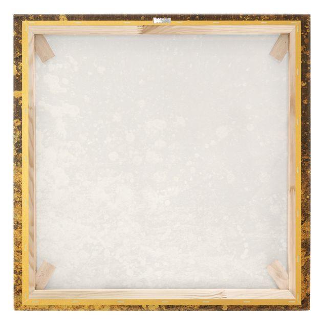 Leinwandbild Gold - Goldene Unruhe - Quadrat 1:1