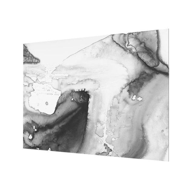 Glas Spritzschutz - Dunst und Wasser I - Querformat - 4:3