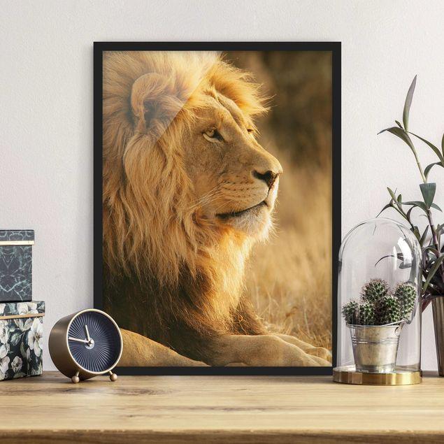Bild mit Rahmen - Löwenkönig - Hochformat 3:4