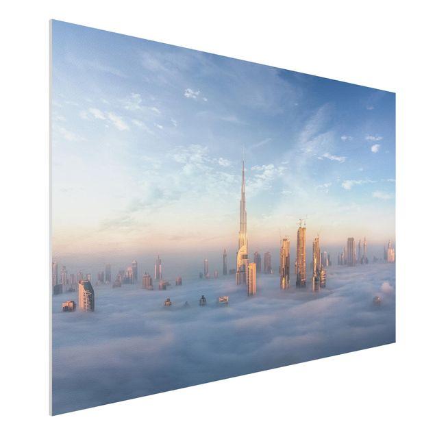 Forex Fine Art Print - Dubai über den Wolken - Querformat 2:3