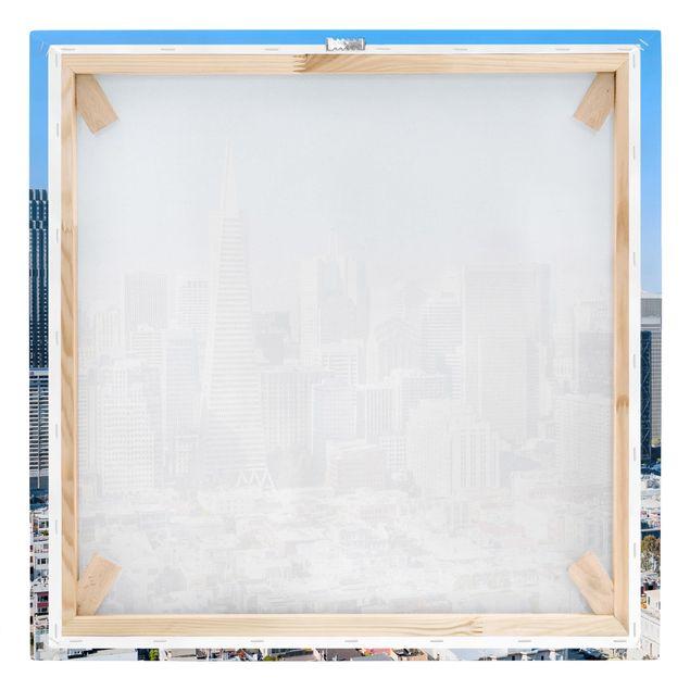 Leinwandbild - San Francisco Skyline - Quadrat 1:1
