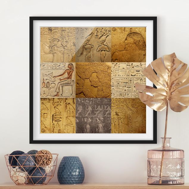 Bild mit Rahmen - Egyptian Mosaic - Quadrat 1:1