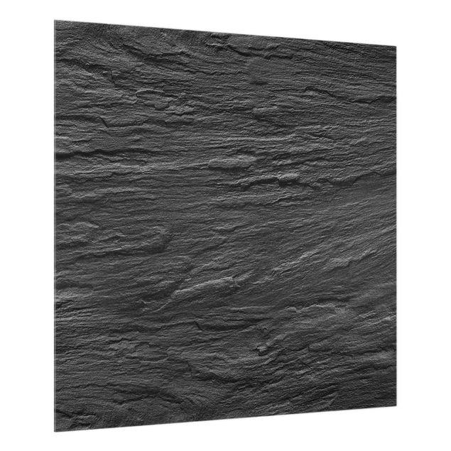 Glas Spritzschutz - Schiefer - Quadrat - 1:1