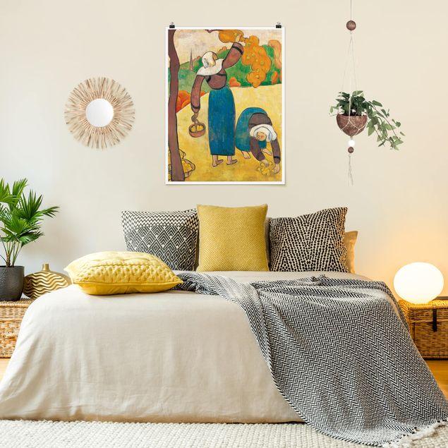 Poster - Emile Bernard - Bretonische Bäuerinnen - Hochformat 3:4