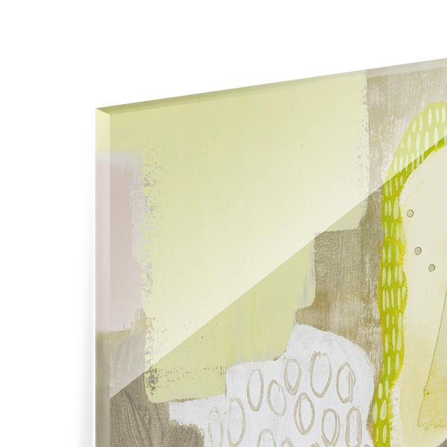 Glas Spritzschutz - Sonnenflecken I - Quadrat - 1:1
