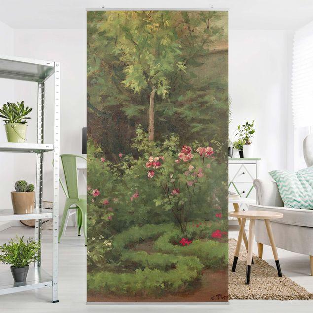 Raumteiler - Camille Pissarro - Ein Rosengarten - 250x120cm