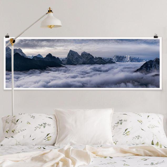 Poster - Wolkenmeer im Himalaya - Panorama Querformat