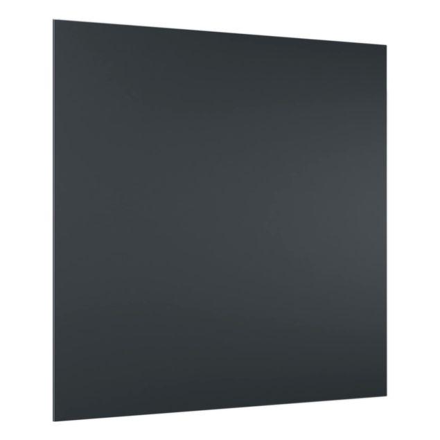 Glas Spritzschutz - Mondgrau - Quadrat - 1:1