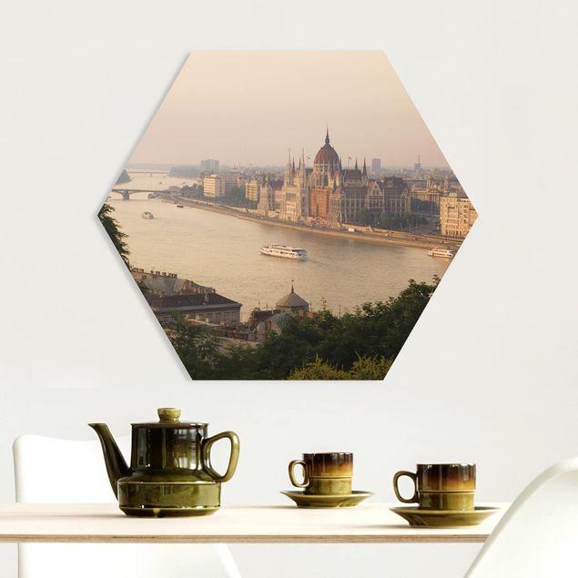 Hexagon Bild Forex - Budapest Skyline