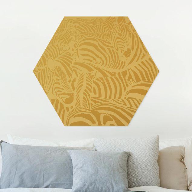 Hexagon Bild Forex - No.DS5 Zebrastreifen Beige