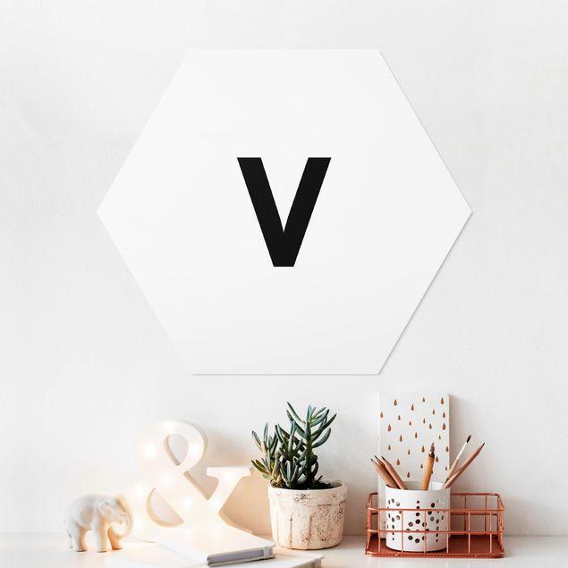 Hexagon Bild Forex - Buchstabe Weiß V