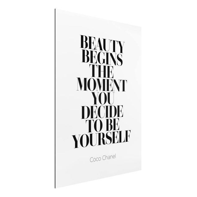 Alu-Dibond Bild - Be yourself Coco Chanel