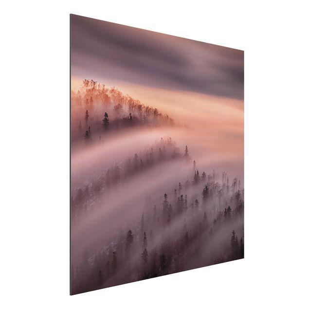 Aluminium Print - Nebelflut - Quadrat 1:1