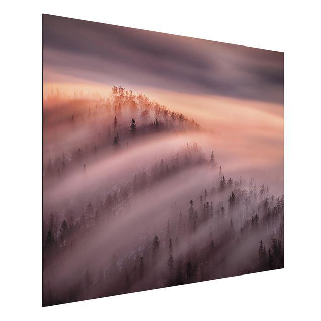 Aluminium Print - Nebelflut - Querformat 3:4