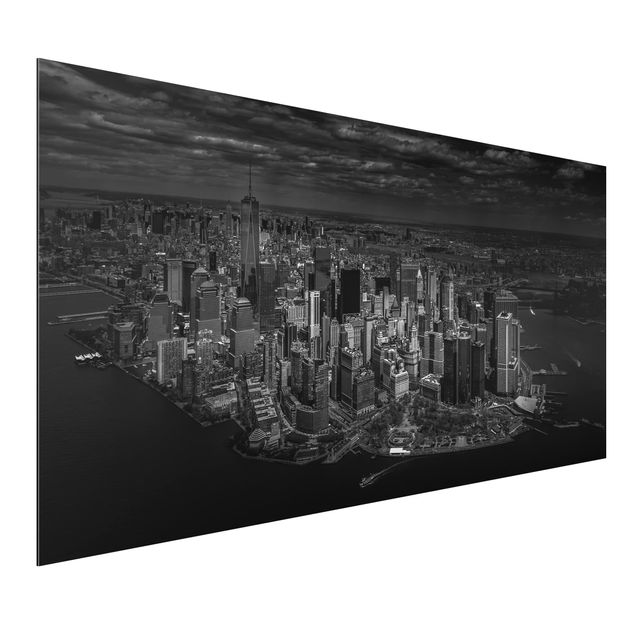 Aluminium Print - New York - Manhattan aus der Luft - Querformat 1:2