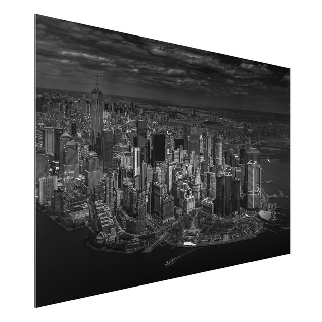 Aluminium Print - New York - Manhattan aus der Luft - Querformat 2:3