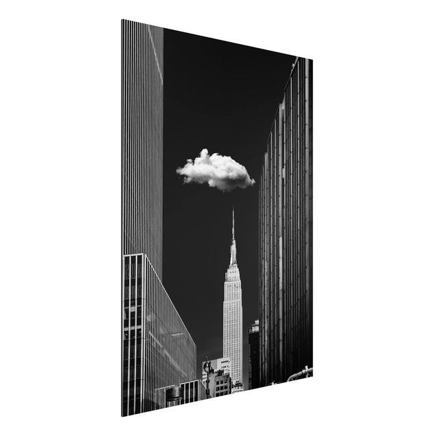 Aluminium Print - New York mit einzelner Wolke - Hochformat 4:3