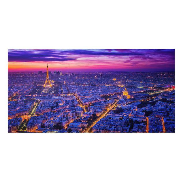 Aluminium Print - Paris bei Nacht - Querformat 1:2