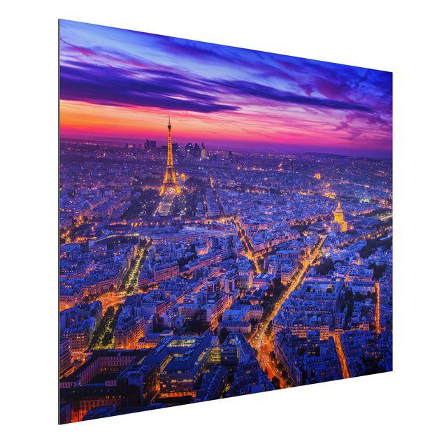 Aluminium Print - Paris bei Nacht - Querformat 3:4