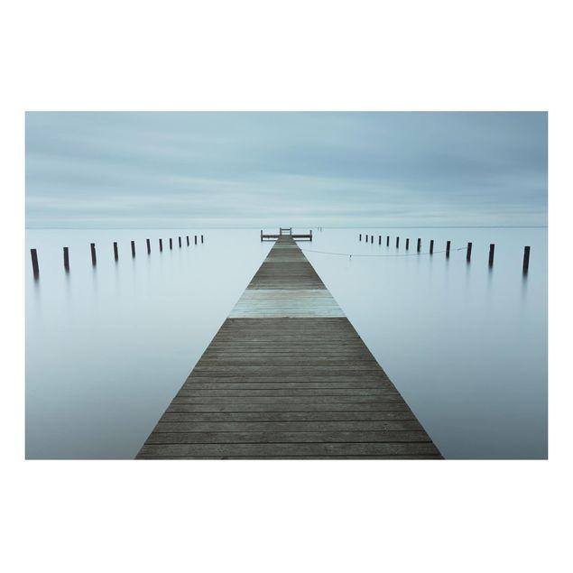 Aluminium Print - Pier in Schweden - Querformat 2:3