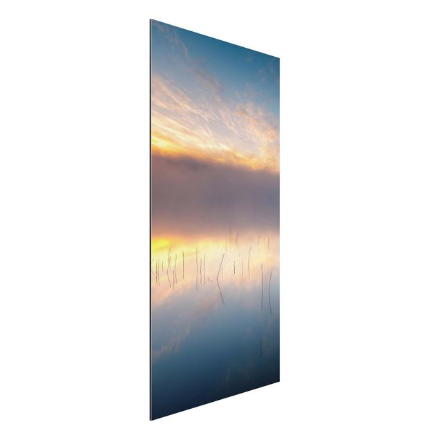Aluminium Print - Sonnenaufgang schwedischer See - Hochformat 2:1