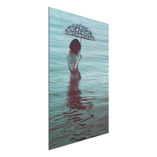 Aluminium Print - Spaziergang im Wasser - Hochformat 3:2