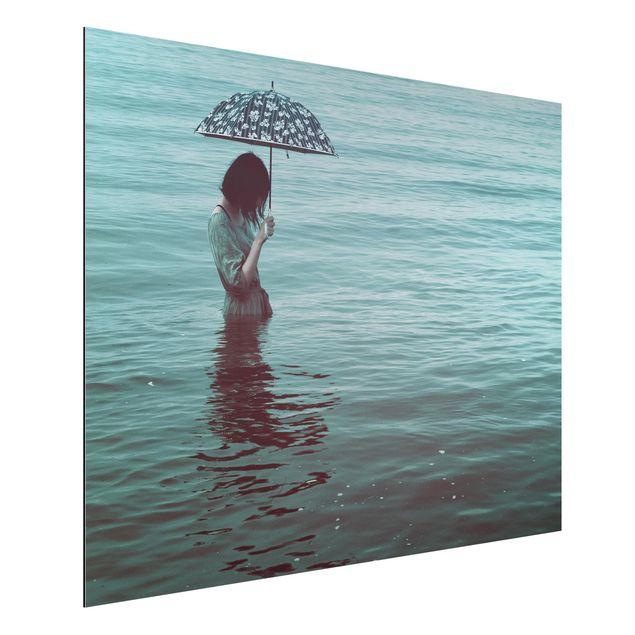 Aluminium Print - Spaziergang im Wasser - Querformat 3:4