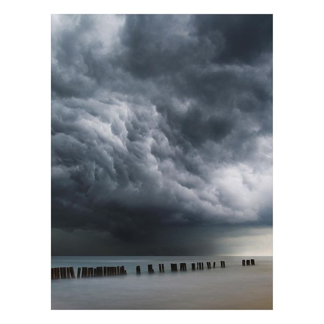 Aluminium Print - Sturmwolken über der Ostsee - Hochformat 4:3
