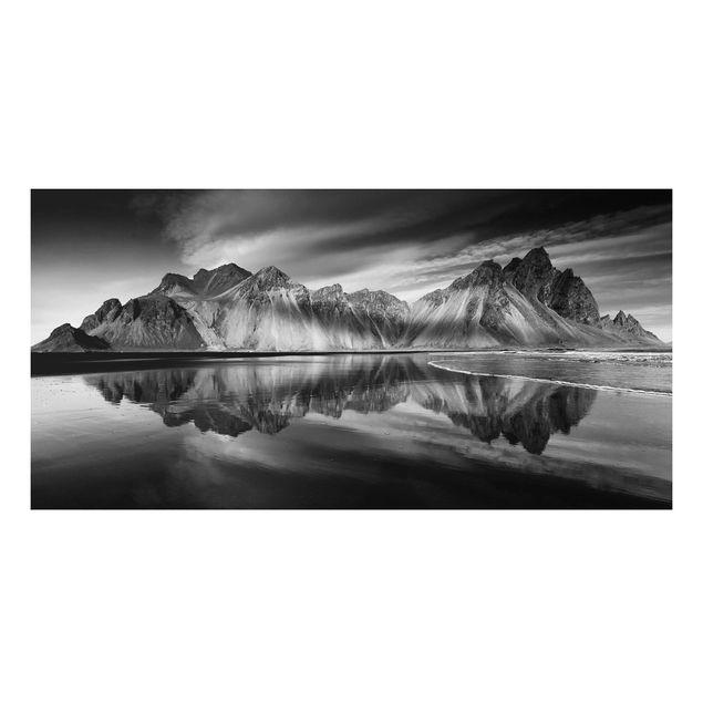 Aluminium Print - Vesturhorn in Island - Querformat 1:2