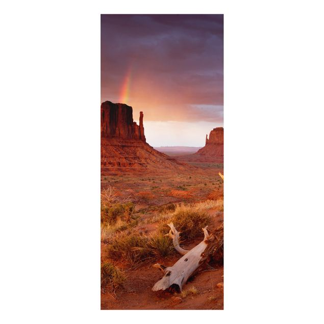 Alu-Dibond Bild - Monument Valley bei Sonnenuntergang