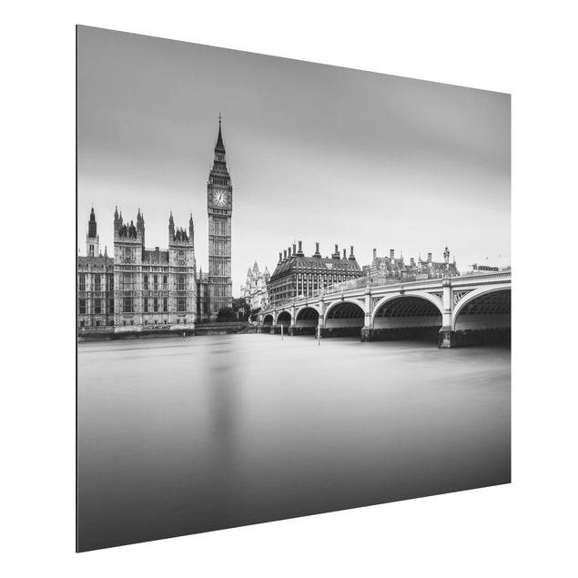 Aluminium Print - Westminster Brücke und Big Ben - Querformat 3:4