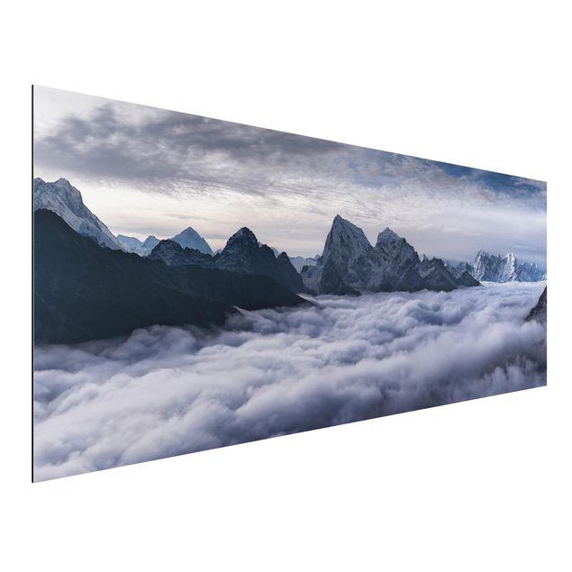Aluminium Print - Wolkenmeer im Himalaya - Panorama
