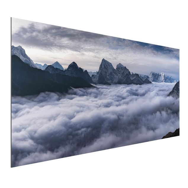 Aluminium Print - Wolkenmeer im Himalaya - Querformat 1:2