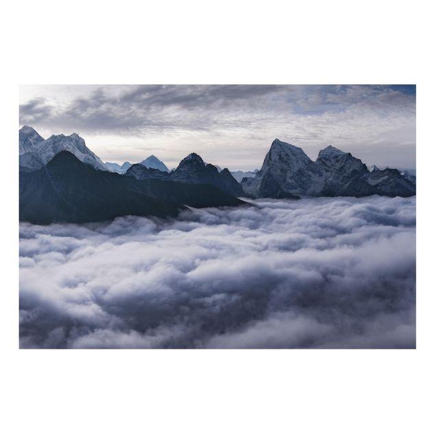 Aluminium Print - Wolkenmeer im Himalaya - Querformat 2:3