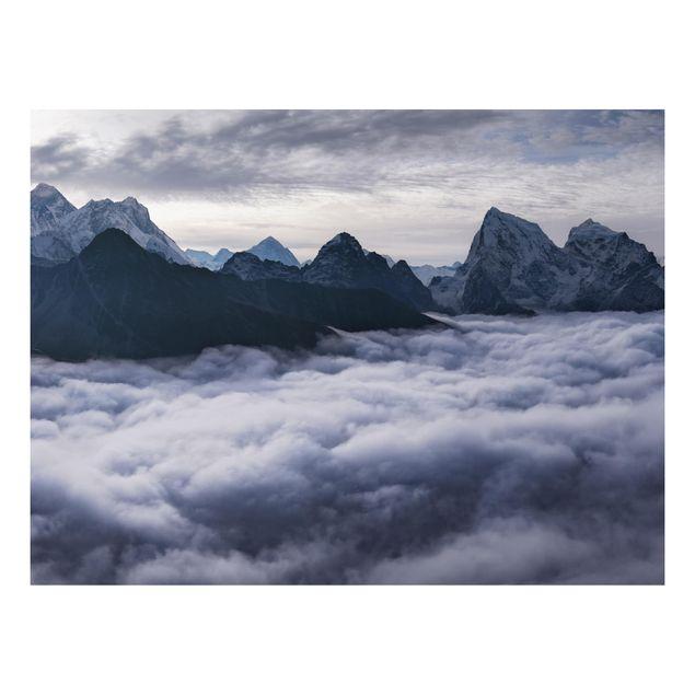 Aluminium Print - Wolkenmeer im Himalaya - Querformat 3:4