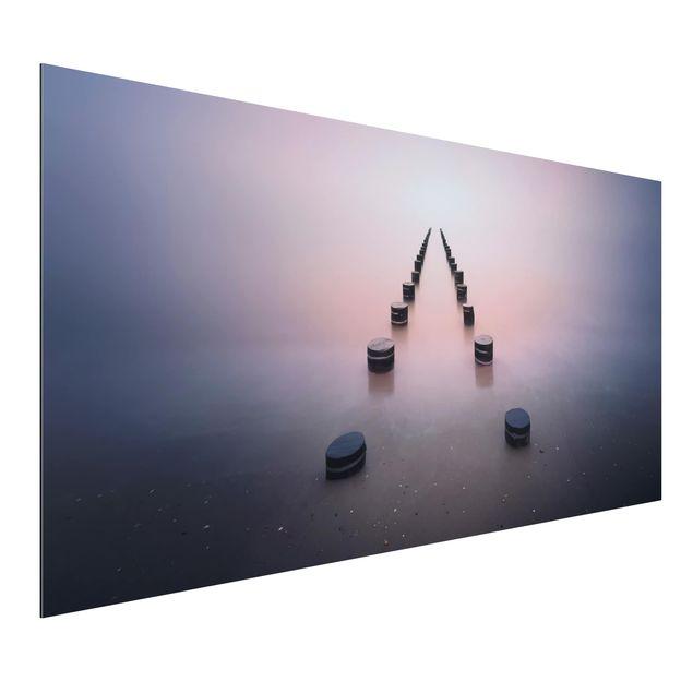 Aluminium Print - Zen am Strand - Querformat 1:2