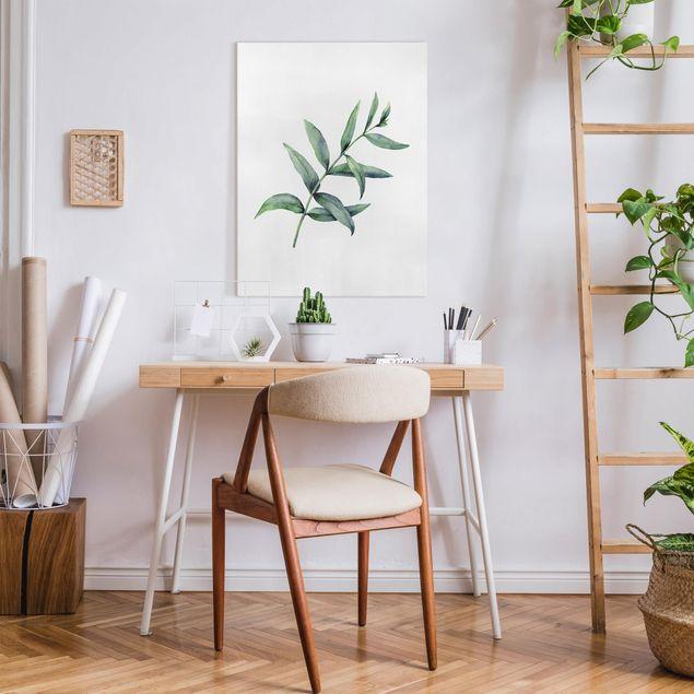 Leinwandbild - Aquarell Eucalyptus I - Hochformat 3:4