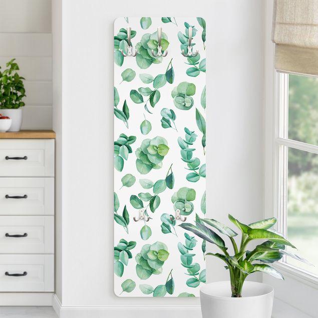 Garderobe - Aquarell Eukalyptuszweige und Blätter Muster