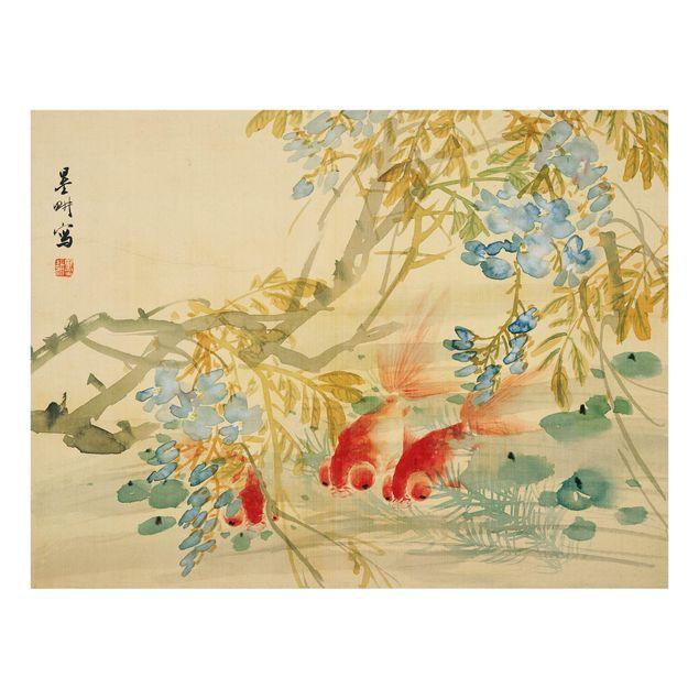 Glas Spritzschutz - Ni Tian - Goldfische - Querformat - 4:3