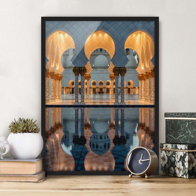 Bild mit Rahmen - Reflexionen in der Moschee - Hochformat 3:4