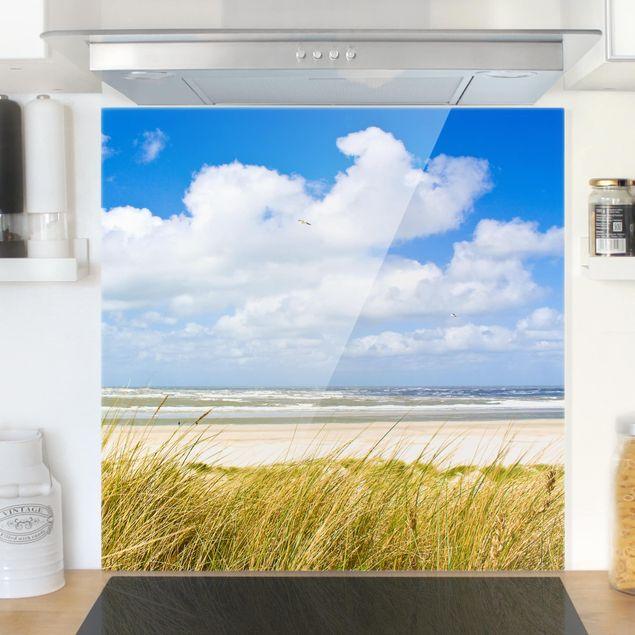 Glas Spritzschutz - An der Nordseeküste - Quadrat - 1:1