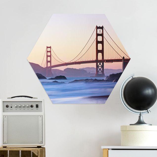 Hexagon Bild Alu-Dibond - San Francisco Romance