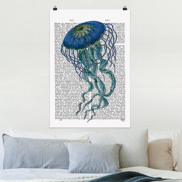 Poster - Tierlektüre - Qualle - Hochformat 3:2